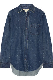 Current/Elliott The Prep School distressed denim shirt
