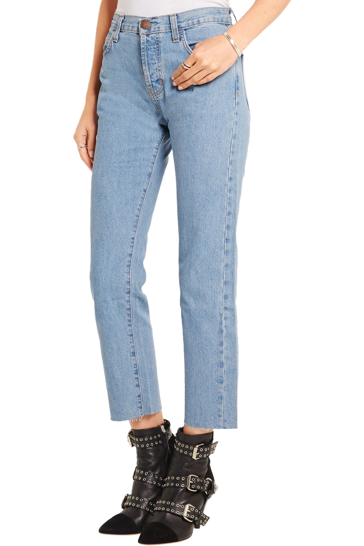 Current/Elliott The Vintage Straight high-rise jeans