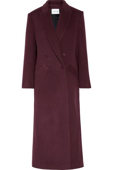 Pallas - Double-breasted Wool And Cashmere-blend Coat - Burgundy