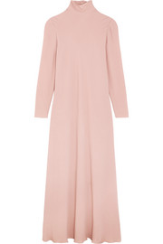 Silk-georgette turtleneck maxi dress