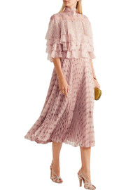 Valentino Ruffled printed silk-chiffon dress