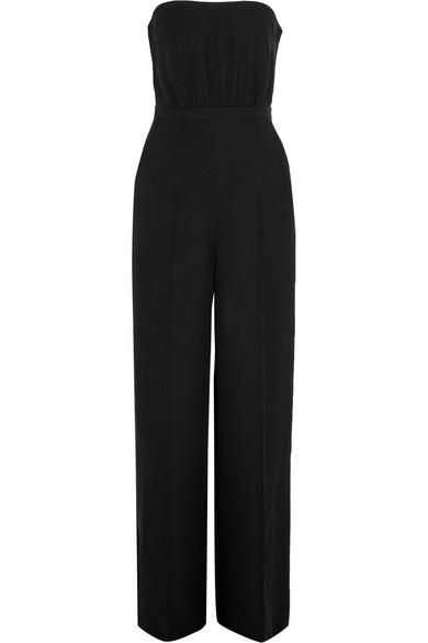Valentino - Cutout Silk-cady Jumpsuit - Black