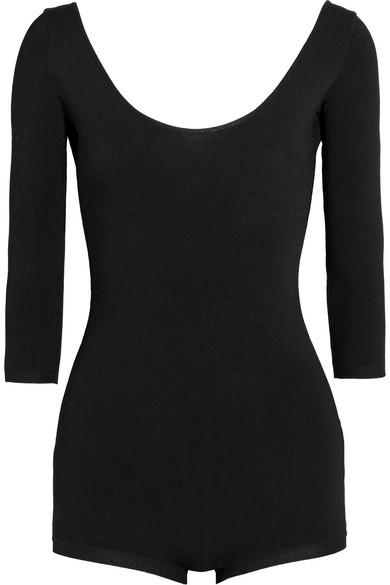 Valentino - Stretch-jersey Bodysuit - Black