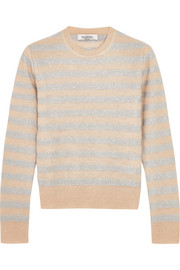 Valentino Metallic striped knitted sweater