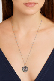 Ileana Makri Dawn 18-karat white gold, sapphire and diamond necklace