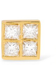 Pixel 18-karat gold diamond earring