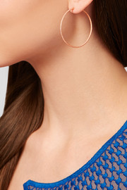 Carolina Bucci Mirador 18-karat rose gold hoop earrings