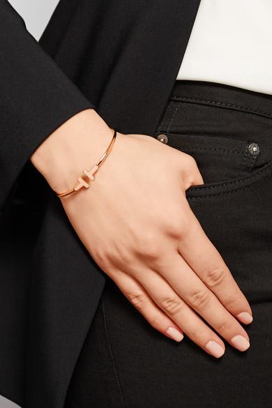 Tiffany Amp Co T Wire Narrow 18 Karat Rose Gold Bracelet