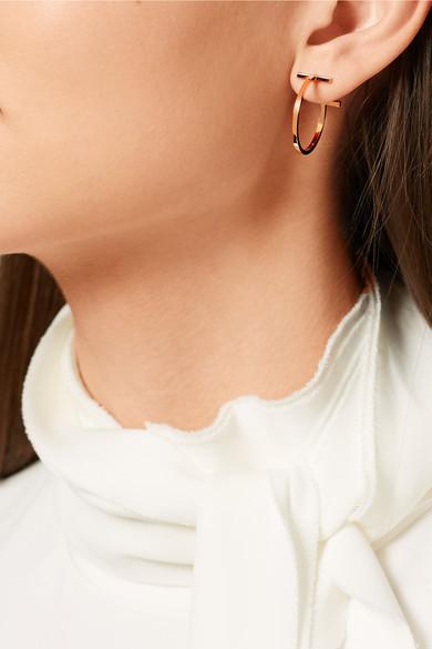 17191b582d5de Tiffany & Co. | T Wire 18-karat rose gold hoop earrings | NET-A ...