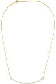 "T Smile 16-18"" 18-karat gold diamond necklace"