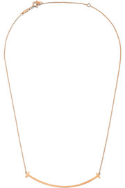 "T Smile 16-18"" 18-karat rose gold necklace"