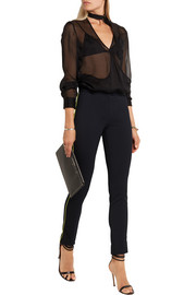 Versace Stretch-gabardine skinny pants