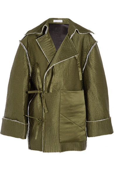 J.W.Anderson - Quilted Silk-satin Coat - Army green