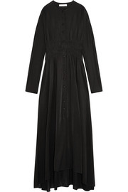 J.W.Anderson Smocked stretch-jersey maxi dress