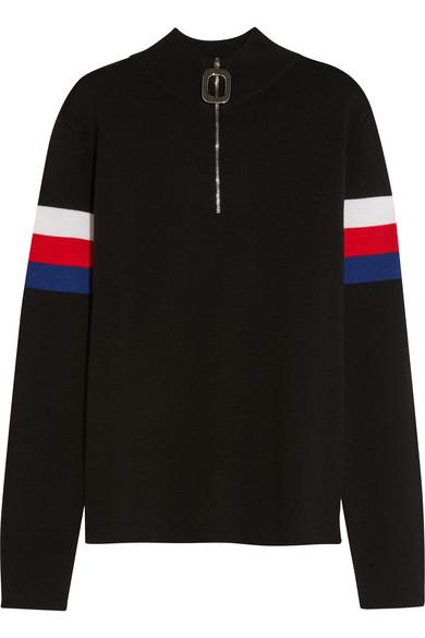 J.W.Anderson - Striped Wool Sweater - Black