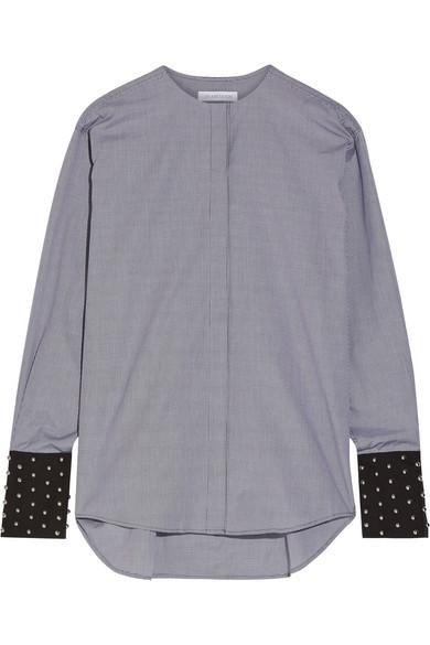 J.W.Anderson - Embellished Gingham Cotton-poplin Shirt - Black