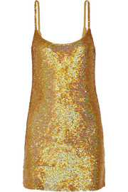 Ashish Sequined silk-georgette mini dress