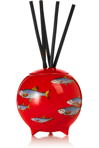 FORNASETTI Sardine Rosso Diffusing Sphere in Red