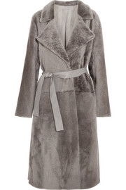 Yves Salomon Reversible belted shearling coat