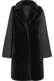Yves Salomon Layered shearling and wool-blend coat