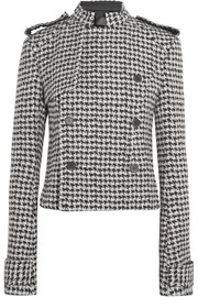 Haider Ackermann Double-breasted houndstooth wool-blend jacket