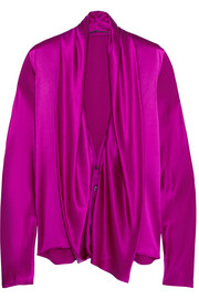 Haider Ackermann Draped silk-satin shirt