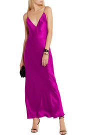 Haider Ackermann Silk-satin maxi dress