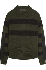 Haider Ackermann Oversized striped knitted sweater