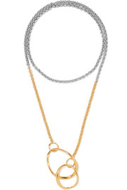 Symi gold-plated and silver necklace