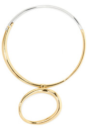 Charlotte Chesnais KOÏ gold-dipped and silver choker