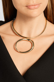 KOÏ gold-dipped and silver choker