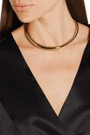 BOÏ gold-dipped and silver choker