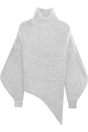 Oversized stretch wool-blend bouclé sweater