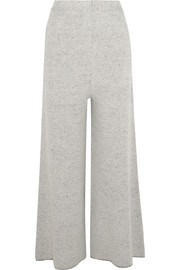 Stella McCartney Mélange bouclé-knit wide-leg pants