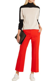 Stella McCartney Eden cropped wool-crepe flared pants