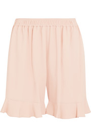 Contessa ruffled stretch-crepe shorts