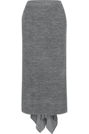 Stella McCartney Draped stretch-knit skirt