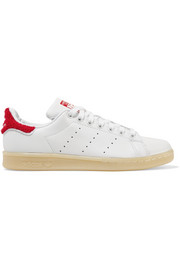 Stan Smith Winter terry-trimmed leather sneakers