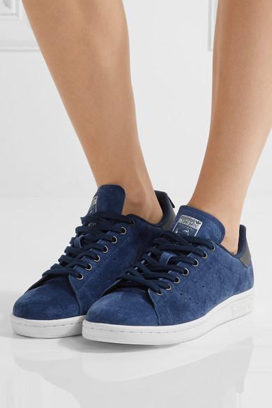 adidas originals stan smith suede sneakers net a porter com. Black Bedroom Furniture Sets. Home Design Ideas