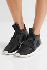 Tubular Defiant neoprene and metallic leather sneakers