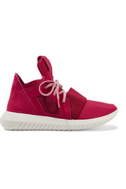 Tubular Defiant neoprene and suede sneakers