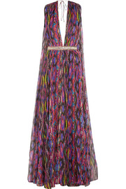 Matthew Williamson Sweetie Ragadang embellished printed silk-chiffon gown