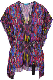 Matthew Williamson Sweetie Ragadang printed silk-chiffon coverup
