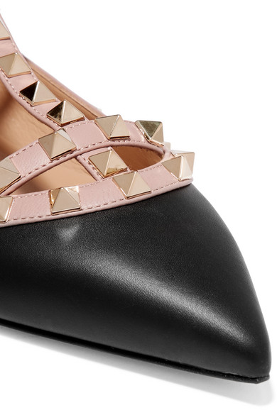 Valentino | Valentino Kappe Garavani Rockstud flache Schuhe mit spitzer Kappe Valentino aus Leder d9a7c3