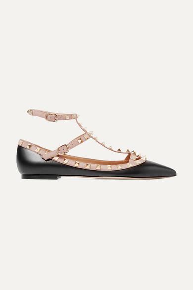 Valentino Rockstud Point Toe Ballerina Flats BZZOpYKn7l