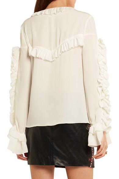 magda butrym ruffled shirt