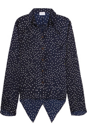 Orleans polka-dot silk shirt