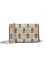 Mogador floral-brocade shoulder bag