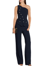 Antonio Berardi One-shoulder stretch-cady jumpsuit