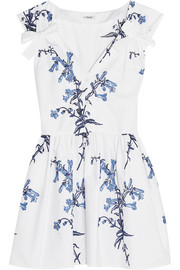 Miu Miu Embroidered cotton-poplin mini dress